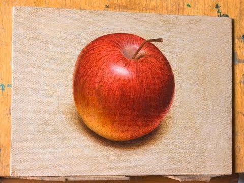 Как рисовать яблоко реалистично. Фрукты. How to Draw an apple realistic. Fruit - YouTube