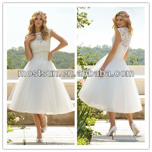 tea length wedding dress with jacket