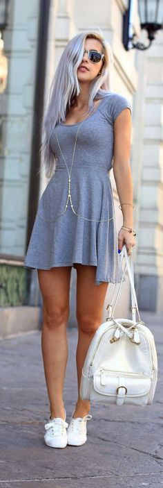 sneakers and dresses tumblr - Google Search