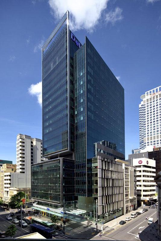 Deloitte Tower, Auckland. Steel columns and floor beams from New Zealand Steel.