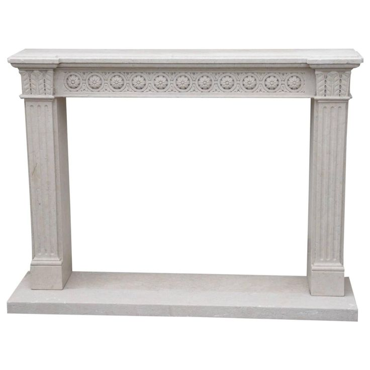 Marble Fireplace Frame, 20th Century