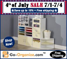 Looking for a little 'independence' from #crafting clutter? How about high-quality, configurable #craft supply #storage and #organization? How about saving money? Check out the 4th of July sale at @goorganize this weekend! And as always, their shipping is FREE!!!
