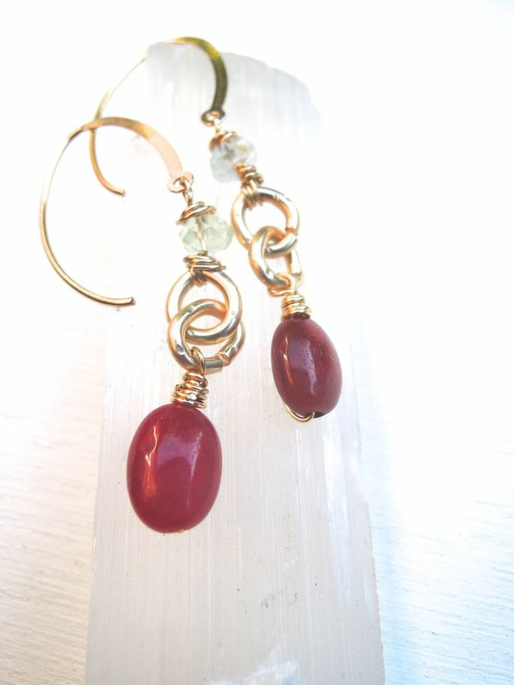 I just want to have fun Ruby earrings