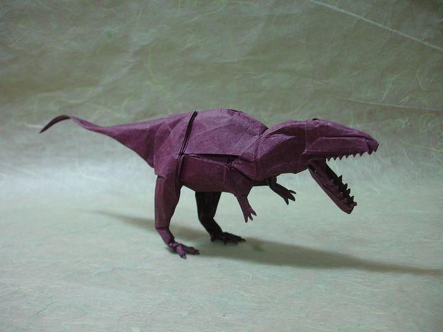 Origami giganotosaurus by shuki.kato