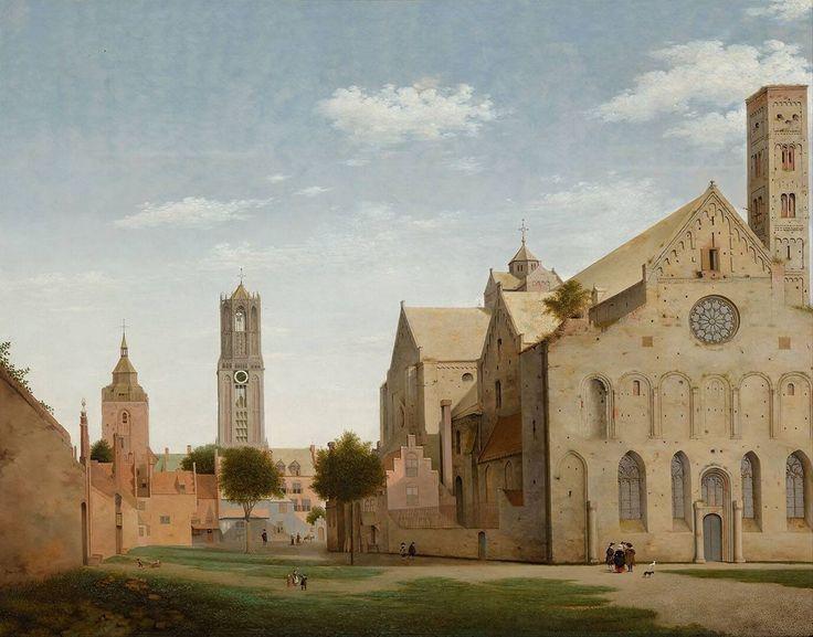 Gezicht op de Mariaplaats en de Mariakerk te Utrecht, Pieter Jansz. Saenredam, 1662   Museum Boijmans Van Beuningen