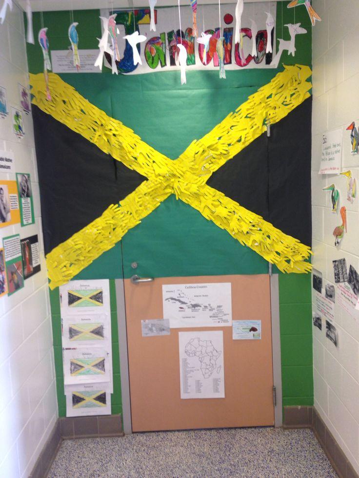 History Classroom Decoration Ideas ~ Jamaica classroom door decoration for black history month