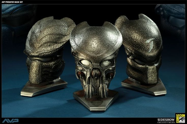 AVP Predator Mask Set 1/4 Comic-Con 2011 Exclusive