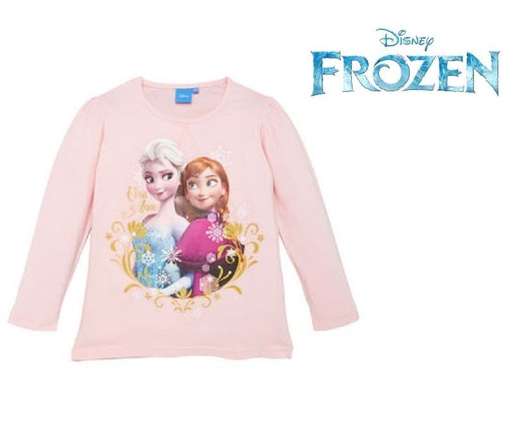 "Disney Frozen Maglia manica lunga Langarmshirt rosa ""Elsa & Anna"" da 3 a 8 anni"