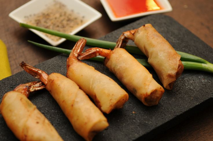 Shrimp Lumpia (Filipino Egg Rolls).