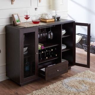 Furniture Of America Karthen Espresso Multi Storage Dining Buffet