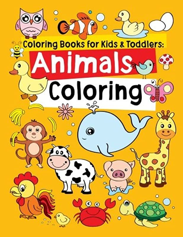 Get Book Coloring Books For Kids Toddlers Animals Coloring Children Activity Books For Kids Ag To Color