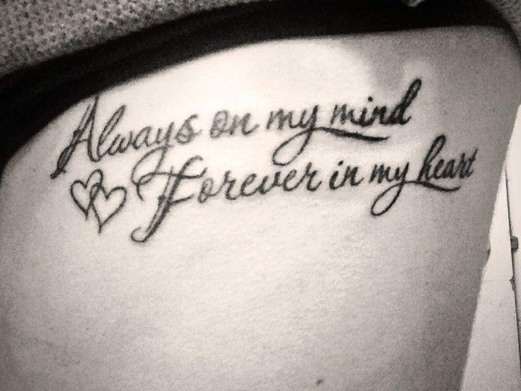 Always on my mind forever in my heart❤️ RIP grandma & poppa #newtattoo #onmyribs #tattoomania