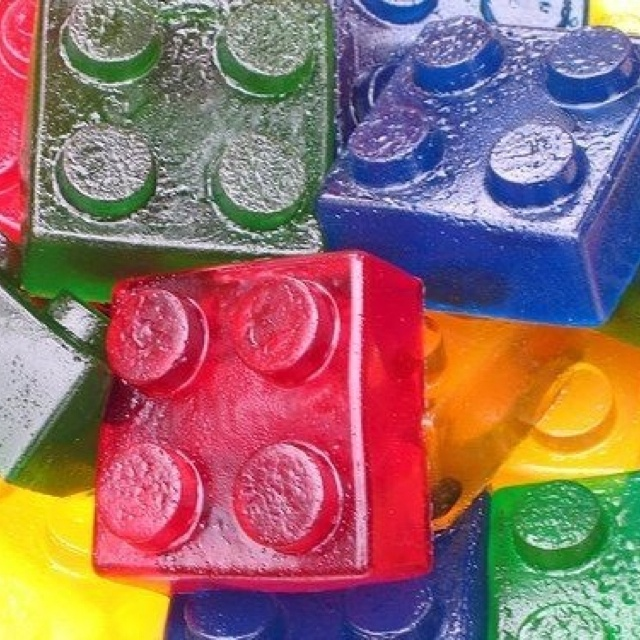 Wash jumbo Legos, add jello, refrigerate and bam! Instant lego jello! Genius!!! :) could use this for kids parties!