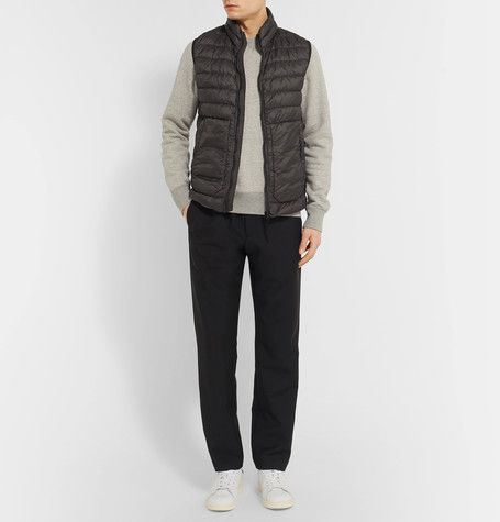 STONE ISLAND  Quilted Garment-Dyed Shell Down Gilet  $415