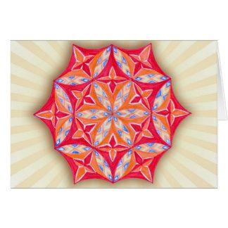 Flower of Life - Yoga Mandala Meditation-Mantra Om Greeting Card