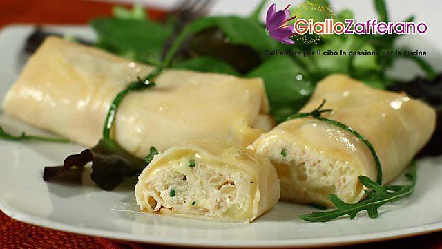 Involtini di tacchino (affettato) con patate, ricotta e pancetta