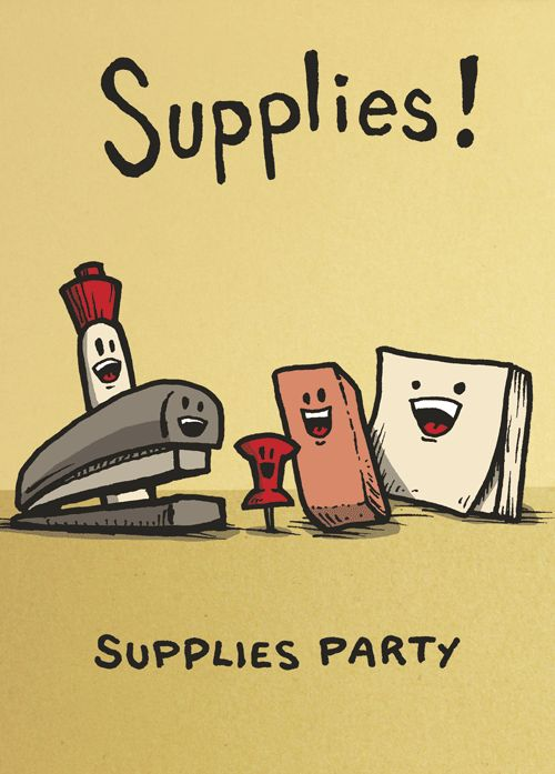 Office humor: Reminds of joke I heard many years ago. SUPPLIES!