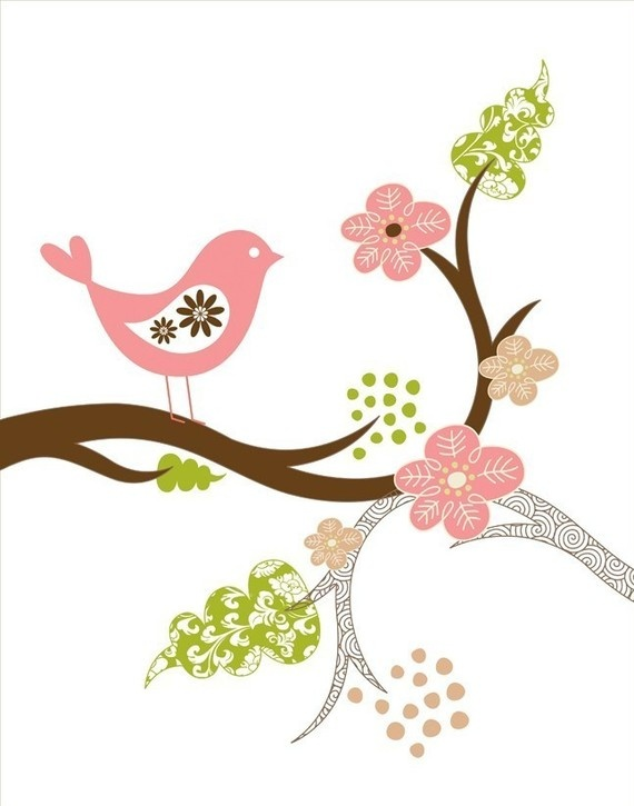 Wall print for baby girl nursery. very cute