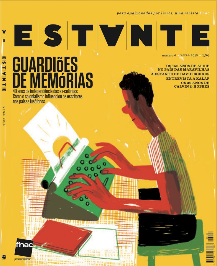 Revista Estante nº 6 - Guardiões de Memórias. Ilustração de João Fazenda. Edição de Adagietto - http://www.adagietto.pt #revistaestante #joaofazenda #revistas #magazines