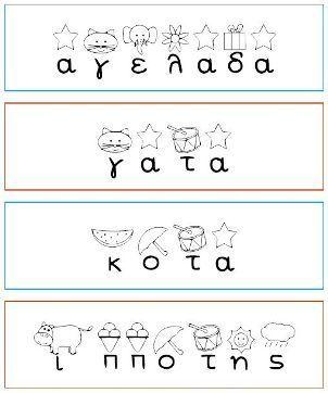 Γράφω-εκτυπώνω-μαθαίνω τις φωνές των γραμμάτων