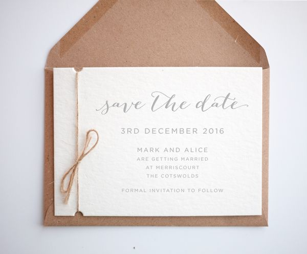 rustic winter wedding save the dates