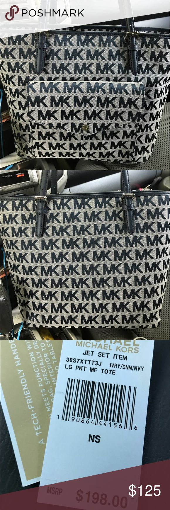 Michael Kors jet set large tote new with tags Michael Kors jet set large tote new with tags MICHAEL Michael Kors Bags Totes