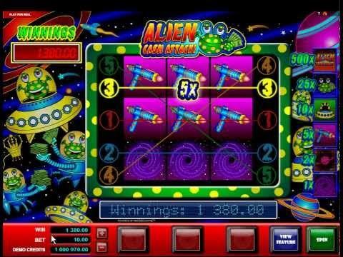 Alien Cash Attack - Online Slot - YouTube