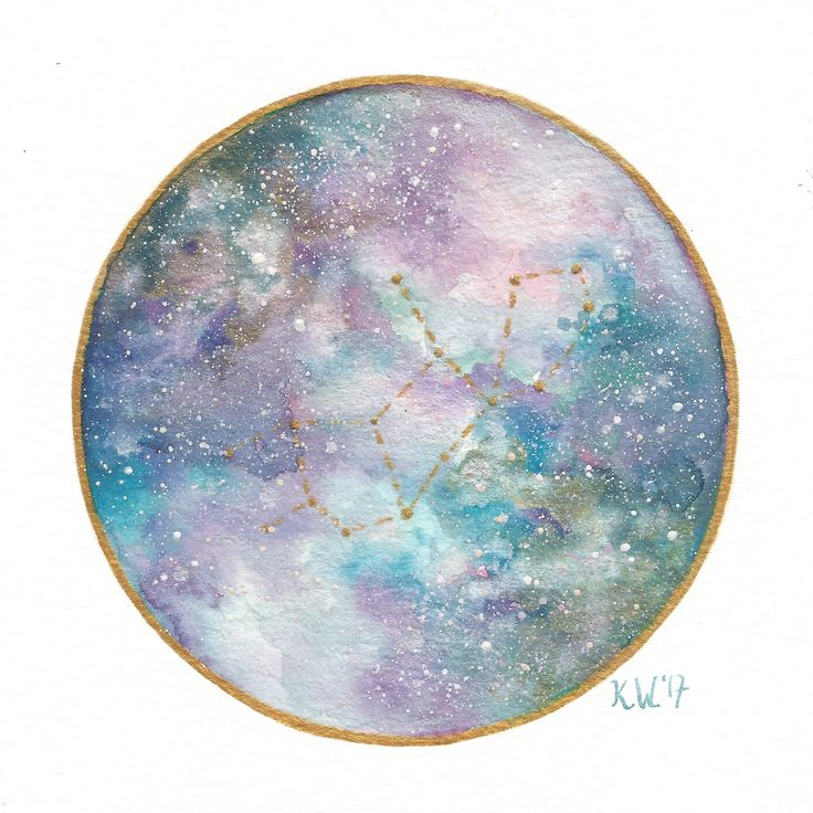 Virgo watercolor galaxy art print by Kari Weatherbee