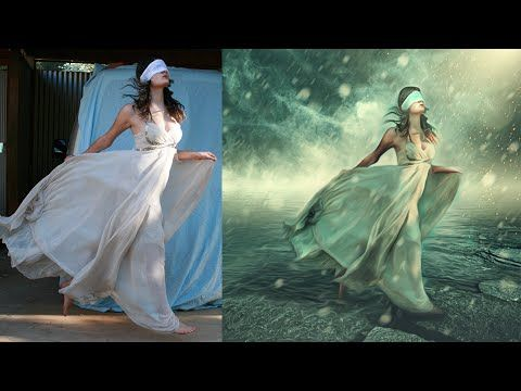 Photoshop Manipulation Tutorials Photo Effects | Dream Girl - YouTube