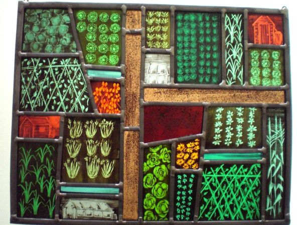 Annie Rie - stained glass vege garden!