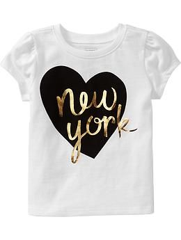 Cap-Sleeve Graphic Tees for Baby   Old Navy