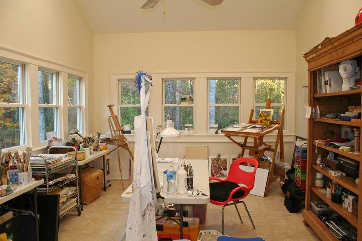Home Art Studio Decoration in Various Style : Modern Home Art Studio Ideas