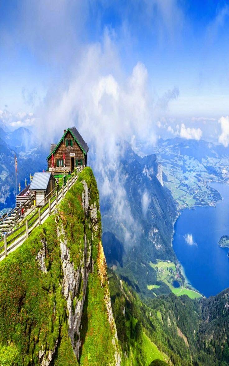 View from Schafberg mountain, Austria