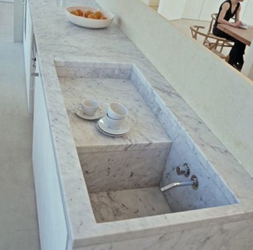 Claudio Silvestrin's Concealed Kitchen Sink