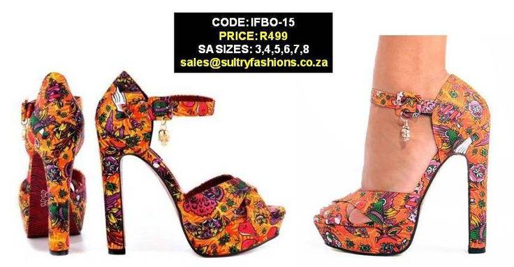 IFBO-15 Kokomoan Platforms - Orange PRICE: R499.00  SIZES: 3,4,5,6,7,8 sales@sultryfashions.co.za