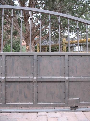Metal-Iron-Monte Voepel: Driveway Gate Detail @Susan Durrett