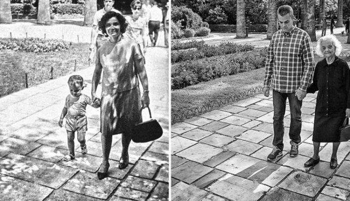 Περίπατος στον κήπο με την μαμά – τότε και τώρα  #Αληθινέςιστορίες