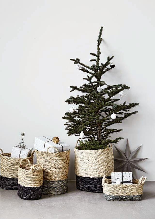Swap out a tree skirt for a pretty basket. @nordstromrack #nordstromrack