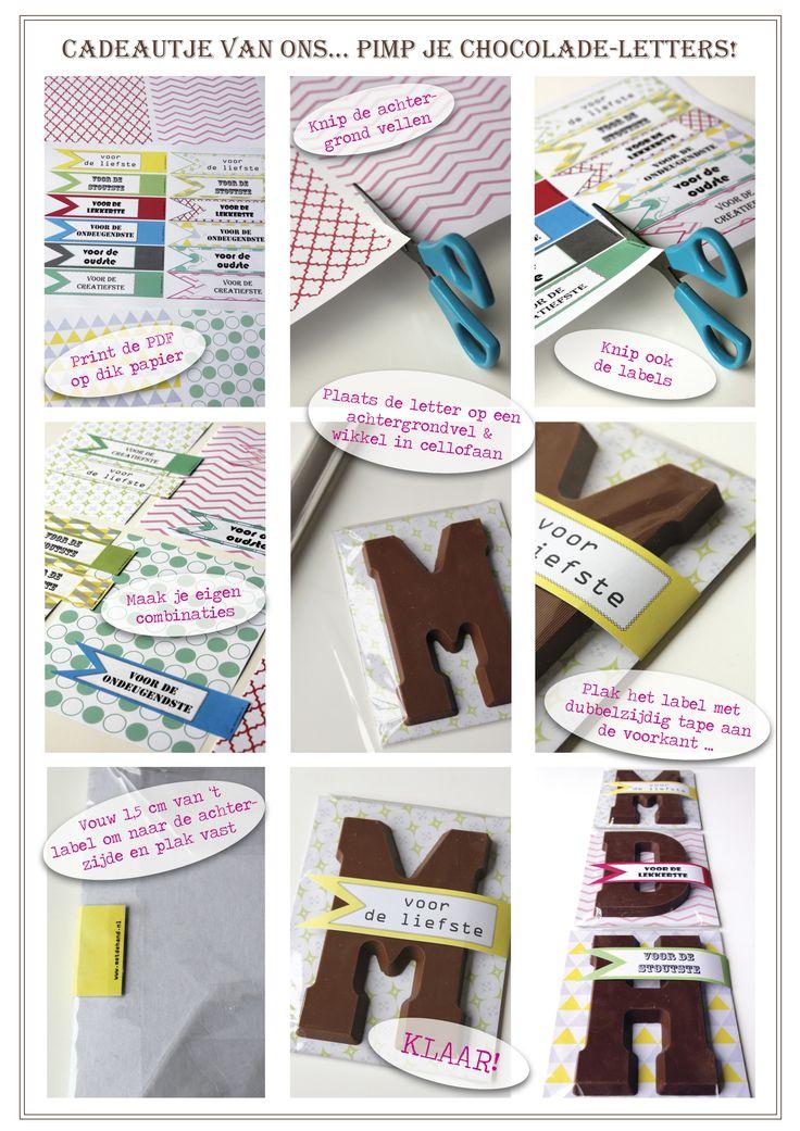 Sint printable chocoladeletters