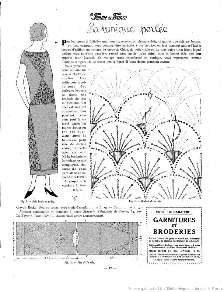 Les Modes de la femme de France . 11 mai 1924. modèle de robe perlée