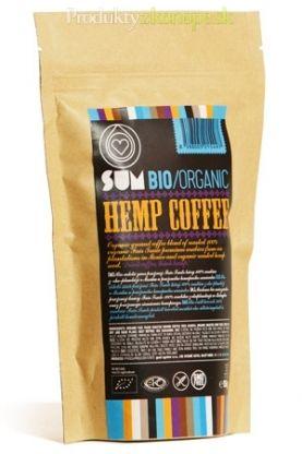 Arabica káva BIO s konopným semienkom SUM 156g/486g. Mletá pražená zmes bio Fair-Trade kávy 100% arabica a bio konopného semienka v pomere cca 70/30. Semienko dodáva káve typickú nezameniteľnú chuť.