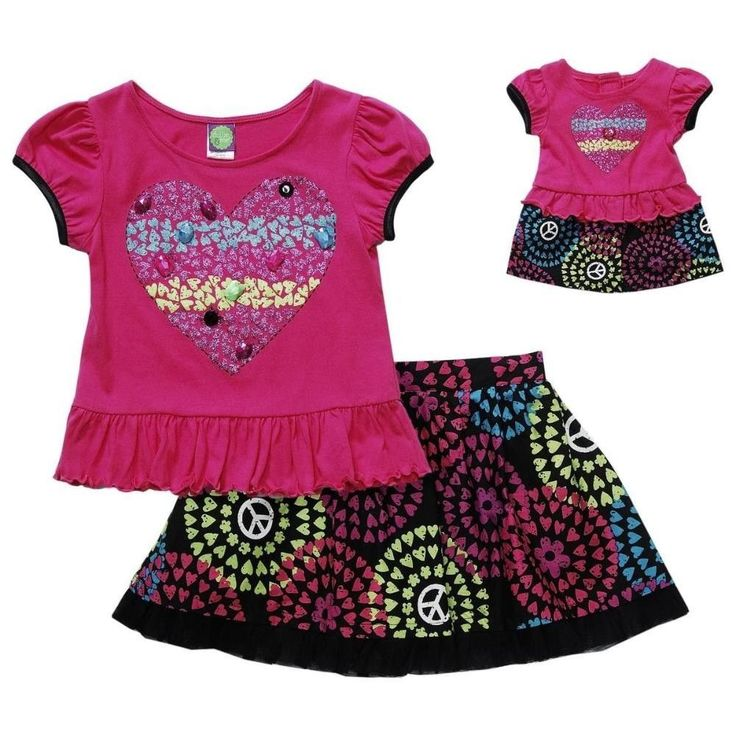 Dollie Me Girl 6 10 and Doll Matching Pink Skirt Outfit Set Fit American Girls | eBay