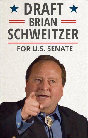 Draft Brian Schweitzer for Senate. The current senator, Max Baucus (a lobbyist's dream) is retiring. Schweitzer is a Paul Wellstone-type populist-progressive.