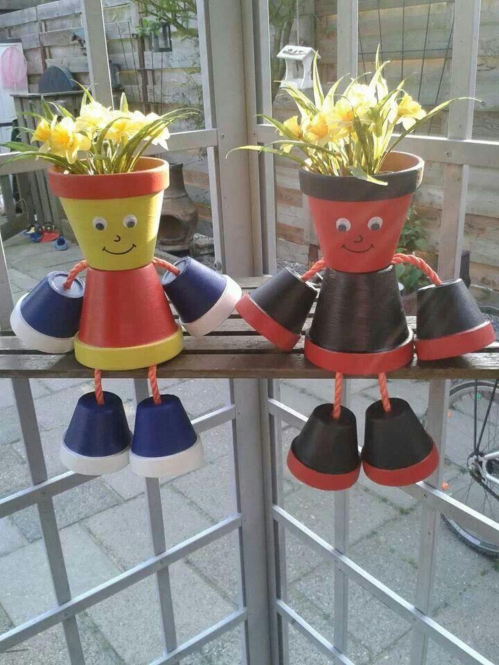 25 beste idee n over bloempotten voor buiten op pinterest het planten van bloemen buiten - Deco kleine tuin buiten ...