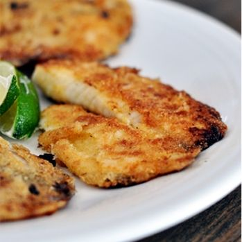 Honey Lime tilapia. Broil for fish tacos with a mild fruit salsa and black bean and corn salad