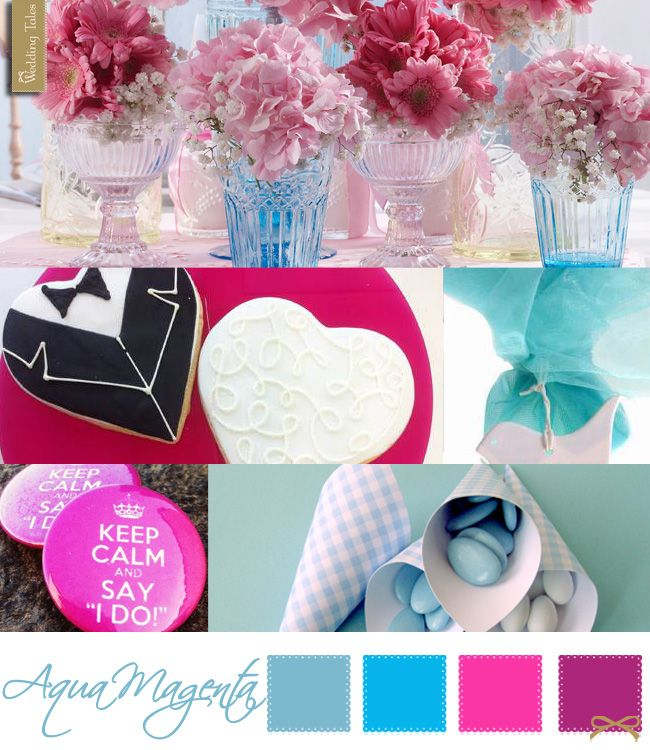 Wedding Moodboard | Aqua Magenta