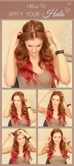 How to Apply your Halo Hair Extensions Halo Hair Extensions- www.dolface.biz