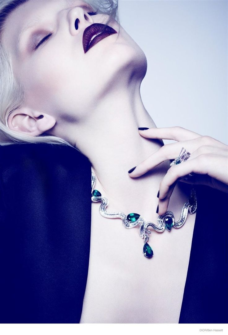ola rudnicka dior jewelry 2014 01 High Jewelry: Ola Rudnicka by Ben Hassett for Dior Magazine