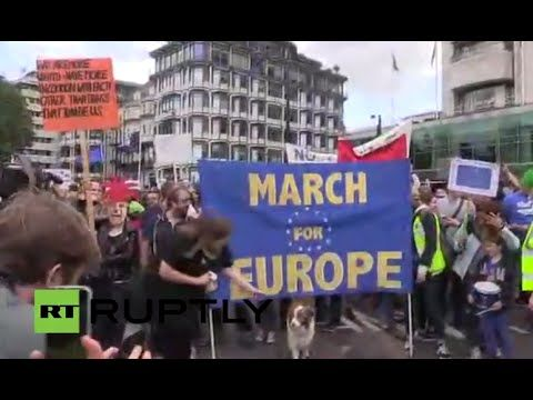 LIVE: Protesters to stage anti-Brexit march in central London