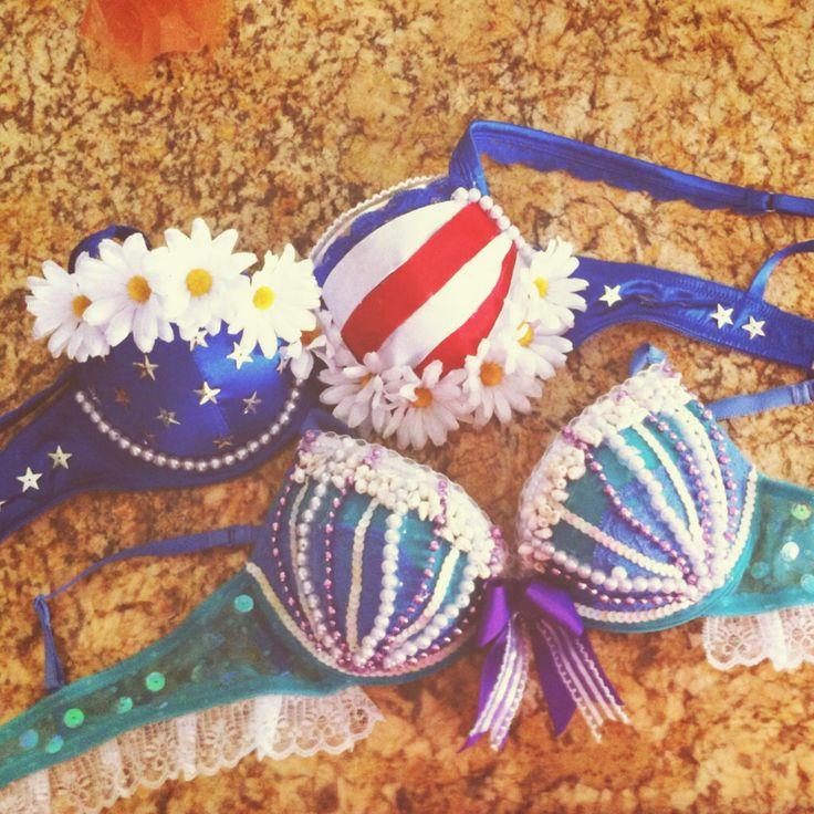 Plurmaid - Rave Bras - American Flag - DIY - Sunset Music Festival